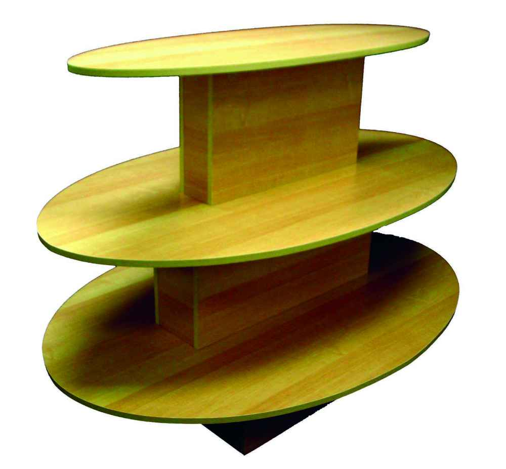 3 Tier Oval Table