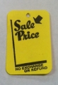 "Small Yellow ""Sale Price"" Tag"