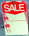 Large Sale Tag with Slit
