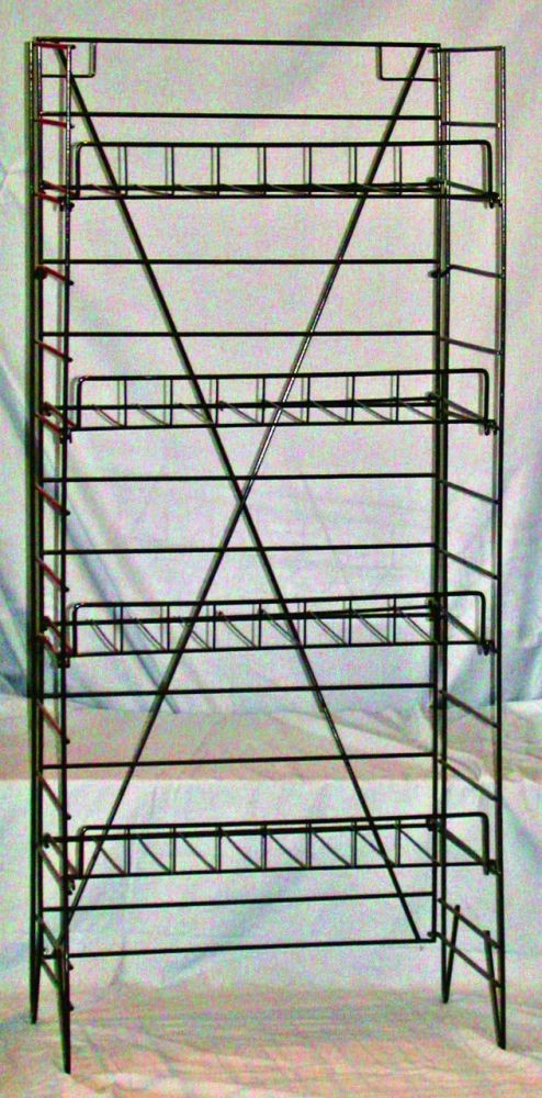 Black Wire Rack with 4 Shelves