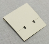 Grey 1-3 - 4'' Clip-on Earring Card