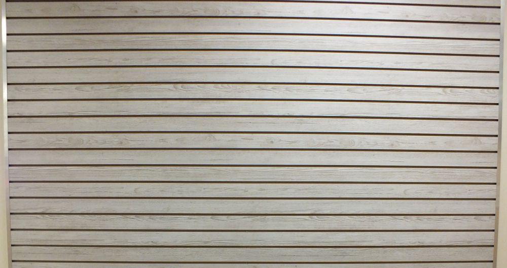 Black Color Melamine Slatwall Panel Black Vertical
