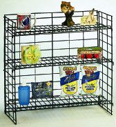 Black Wire Counter Rack with Shelves