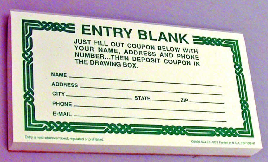 Entry Blanks