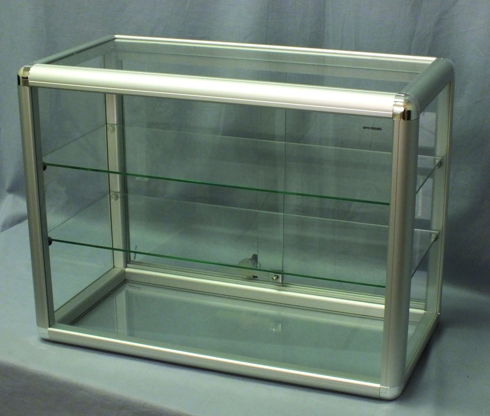 Glass Case with Sliding Doors