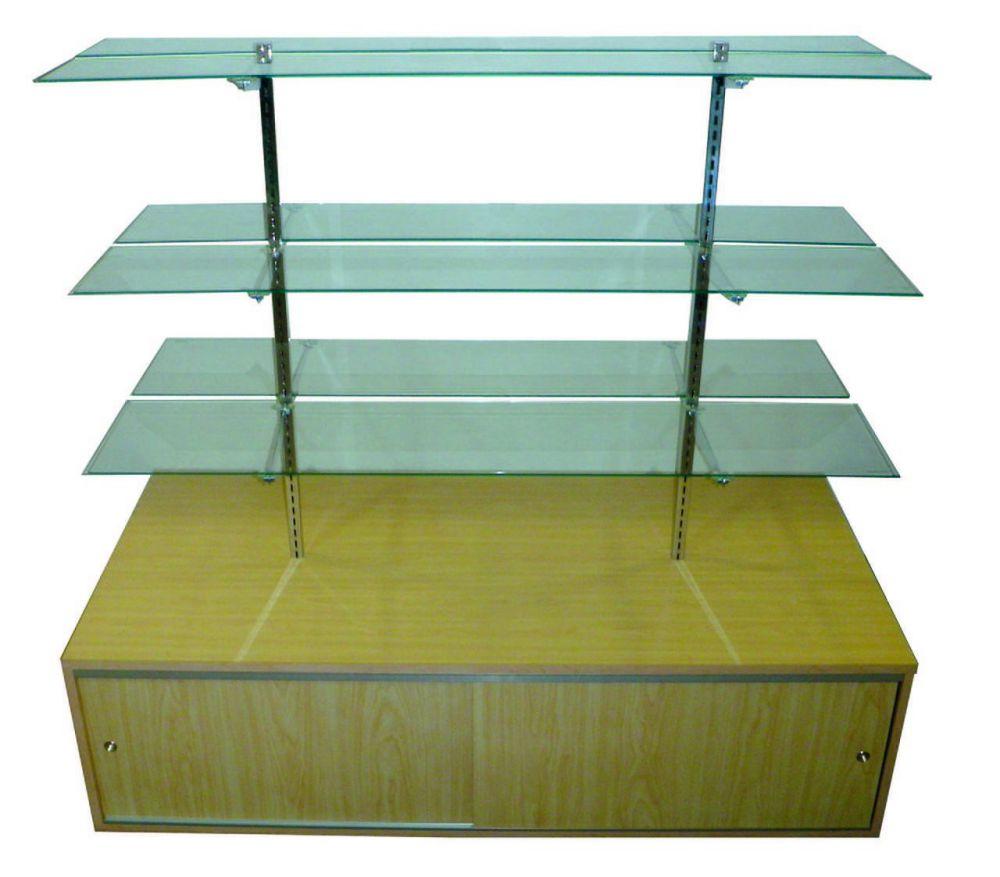 Glass Shelf Display with Base