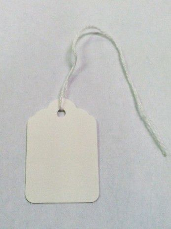 White Jewelry Tags with String