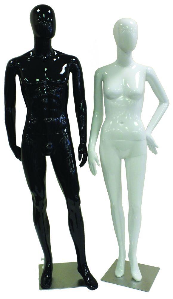 Plastic Retro High Gloss Mannequins