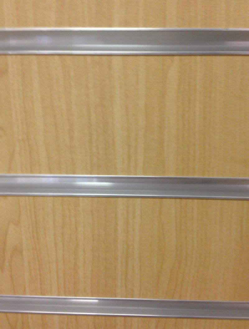 maple slatwall with metal extrusions - Slat Wall