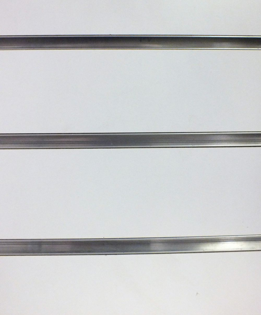White Slatwall with Metal Extrusions