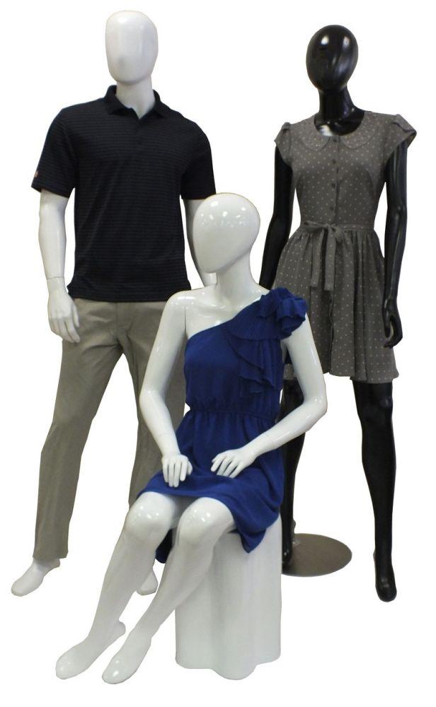 Retro High Gloss Fiberglass Mannequins