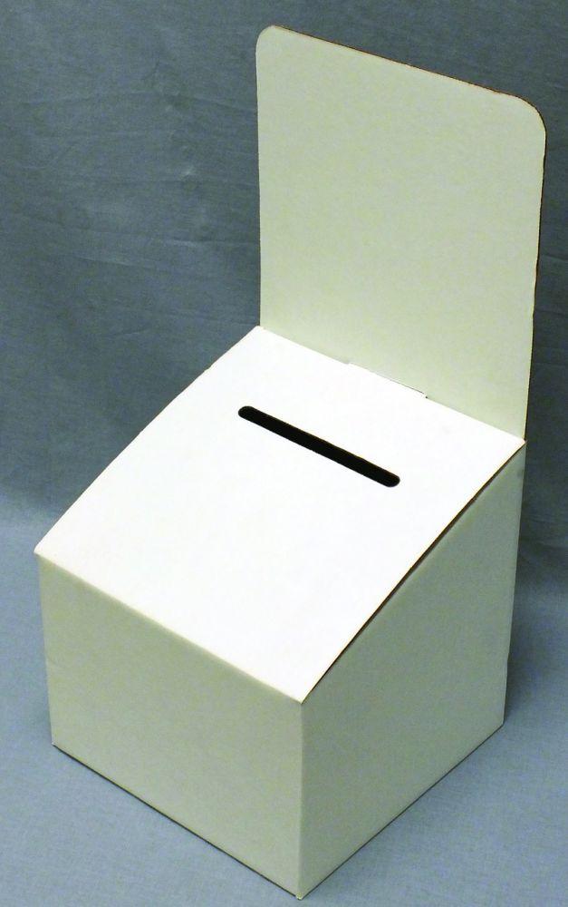 White Cardboard Contest Box