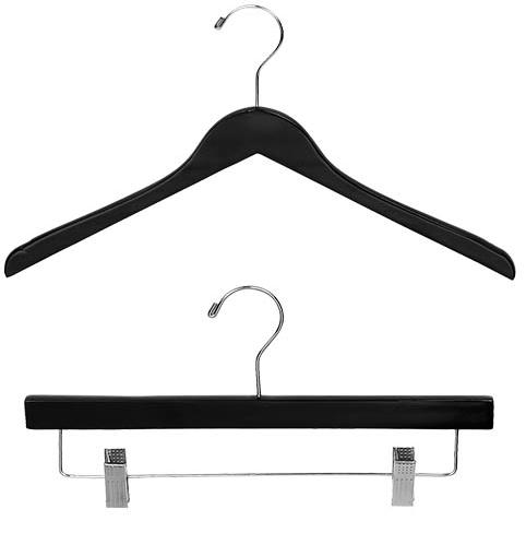 Black Wood Clothes Hangers