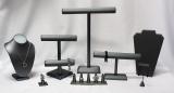 Steel Grey Leather Jewelry Displays