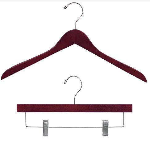 Mahogany Wood Clothes Hangers