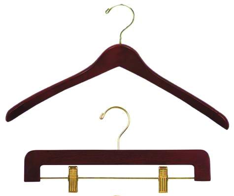 Dark Walnut Contoured Hangers