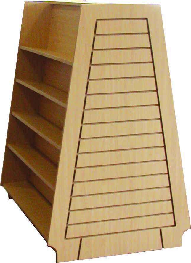 Slat Wall Bookcase