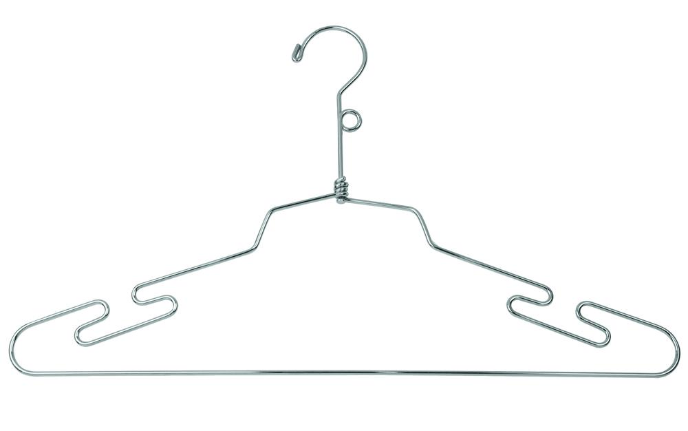 16'' Metal Chrome Lingerie Hanger