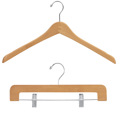 Natural Gloss Wood Clothes Hangers