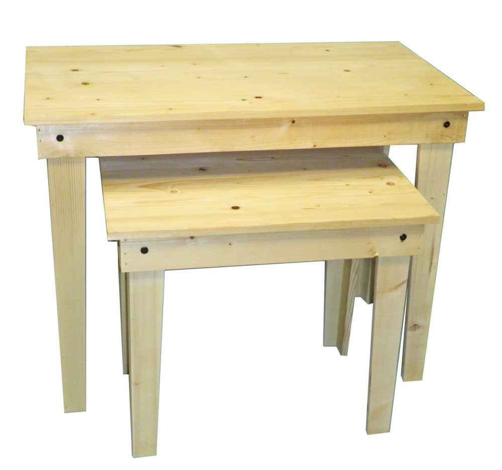 Natural Rustic Nesting Tables
