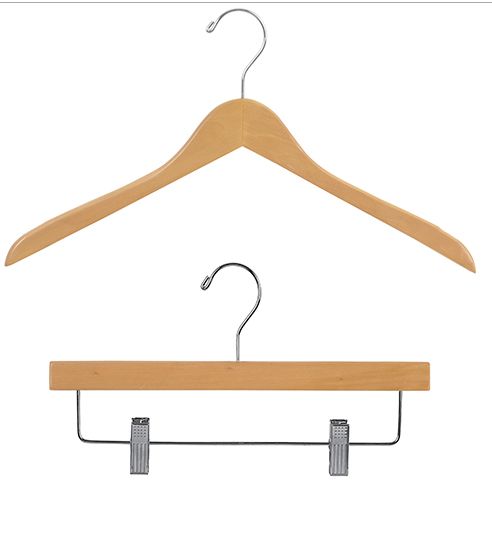 Natural Wood Clothes Hangers