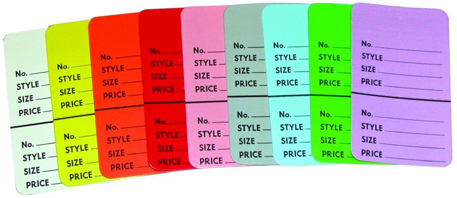 Large Colorful Perforated Tags