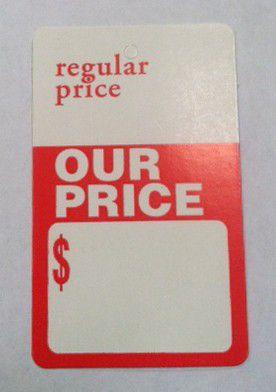 """""""Regular Price / Our Price"""" Tag"""