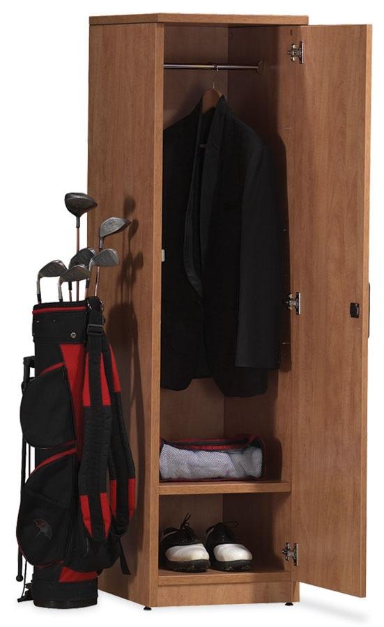 Single Tier Storage Locker With Hang Bar