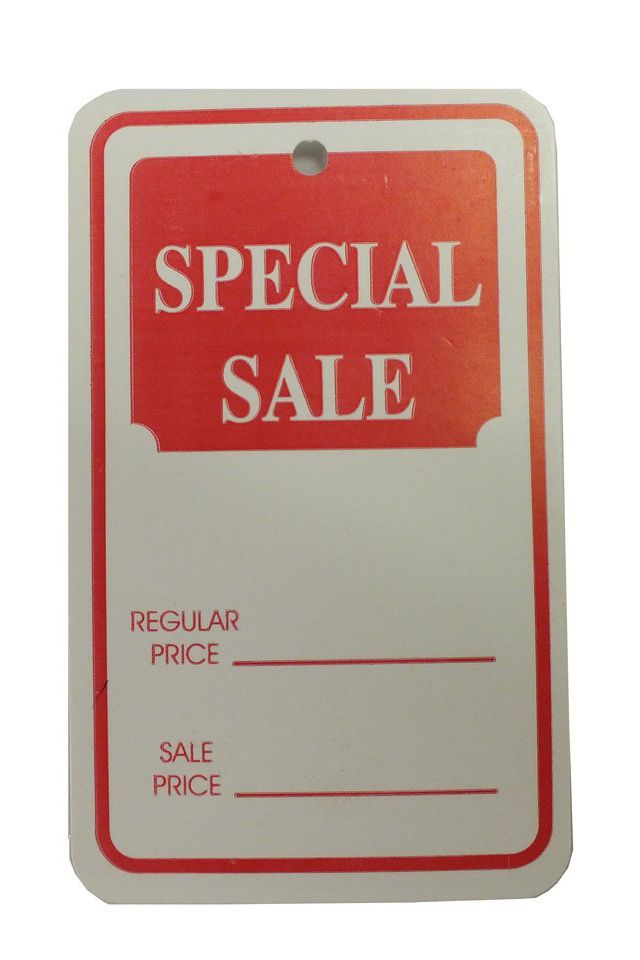"""Special Sale"" Tag"