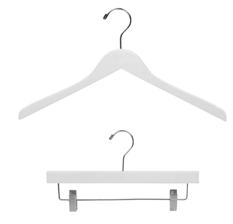 White Wood Clothes Hangers