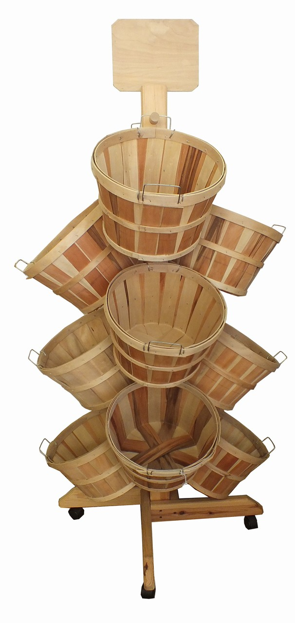 Wood Basket Displays