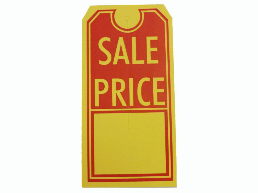 """Sale Price"" Tag with Slit"